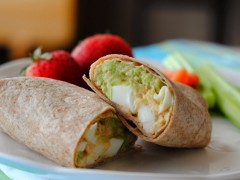 Thumbnail image for Tuna egg salad wrap with avocado and product review